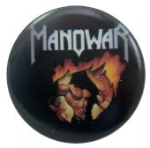 Manowar - 'Fire and Blood' Button Badge